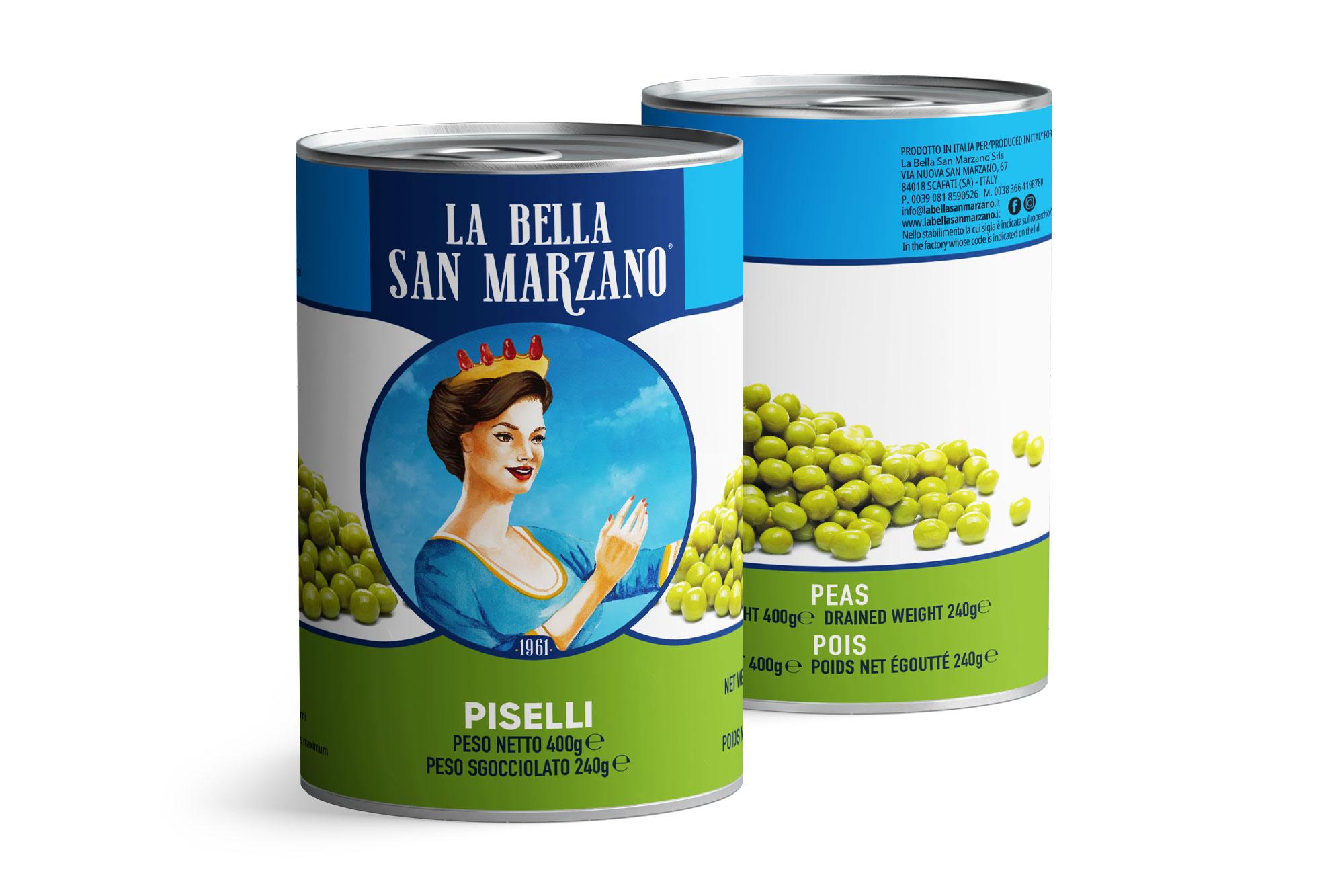 La Bella San Marzano - Piselli 400 gr
